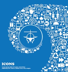 Helicopter icon sign Nice set of beautiful icons vector