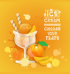 ice cream logo sweet beautiful summer dessert vector image