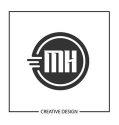 Initial letter mh logo template design vector