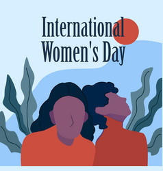 international womens day happy womens vector image