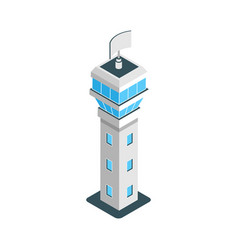 isometric airport tower vector image
