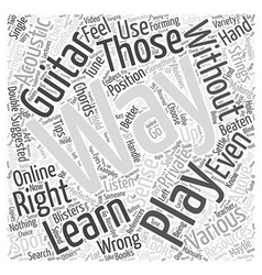 Learn to play an acoustic guitar Word Cloud vector