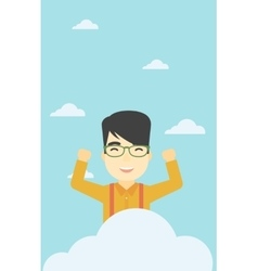 Man sitting on cloud vector image