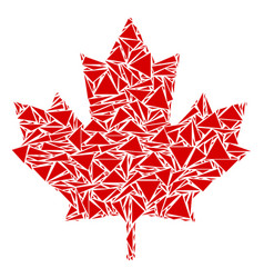 Maple leaf collage of triangles vector