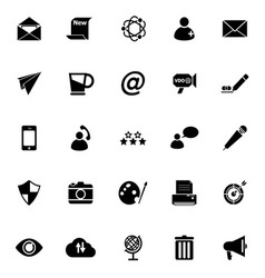 Message and email icons on white background vector image