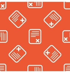 Orange declined document pattern vector