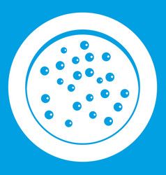 Peppercorns on a plate icon white vector