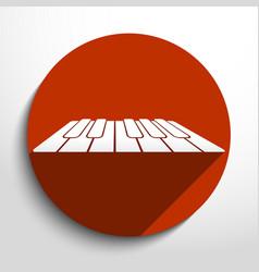 Piano keys web icon vector