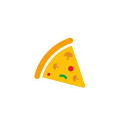 pizza icon design template vector image