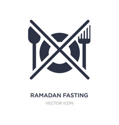 Ramadan fasting icon on white background simple vector