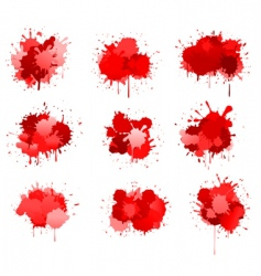 Red ink or blood blobs vector