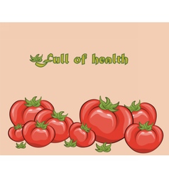 Red tomatoes composition vector image vector image