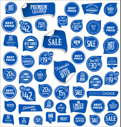 sale tag blue collection vector image