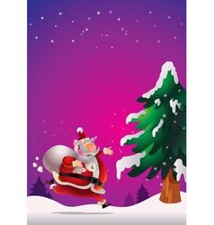 Santa Claus poster vector image