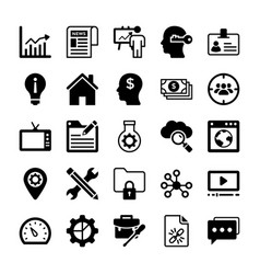 Seo and digital marketing glyph icons 13 vector