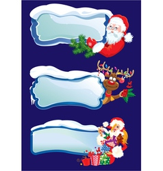 Set of horizontal banners with snowdrifts vector image