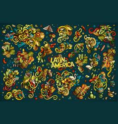 set of latin america combinations vector image