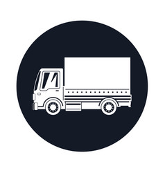 small covered truck icon vector image