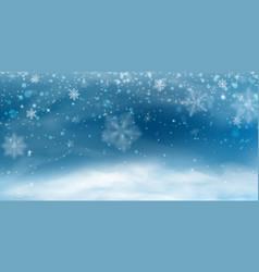Snow background winter christmas landscape vector