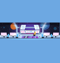 spaceship interior nobody futuristic captain vector image