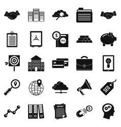Stockjobber icons set simple style vector