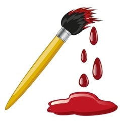 Tassel in red paint vector