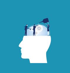 Teamwork business team repair human head vector