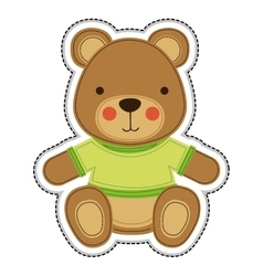 teddy bear icon image vector image