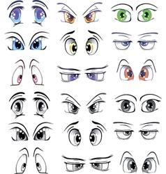 The complete set drawn eyes vector