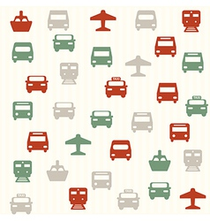 Transport seamless pattern 2 vector image