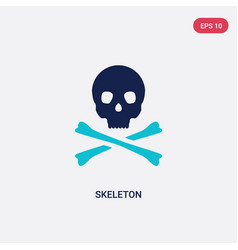 two color skeleton icon from history concept vector image