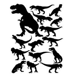 Tyrannosaurus rex silhouettes vector