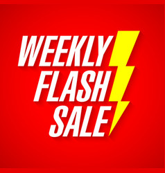 Weekly flash sale deal day banner vector