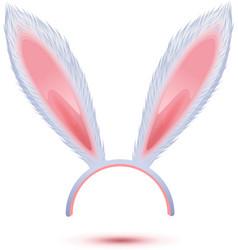 White long rabbit ears mask vector image