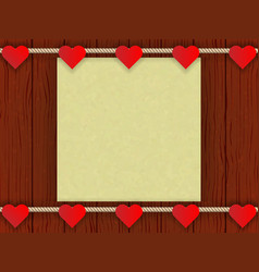 wood wall with romantic decor vector image