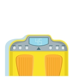 Yellow Bathroom Scales For Weight Loss Monitoring vector image