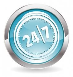 24/7 button vector image