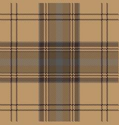 brown plaid check tartan seamless pattern vector image vector image
