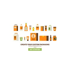 Custom packaging concept vector image vector image