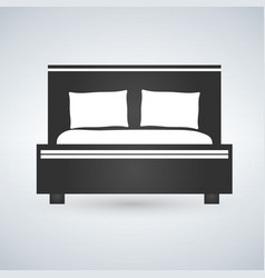 double bed web icon design vector image
