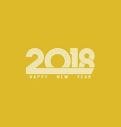 Banner 2018 happy new year typography design vector