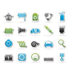 car part and services icons 2 vector image