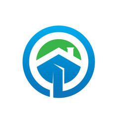 circle home building logo image vector image vector image