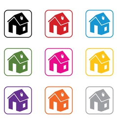 home symbols vector image vector image