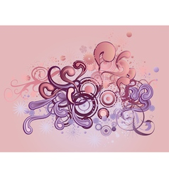 Ornament with floral and circles vector image vector image