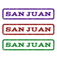 San juan watermark stamp vector