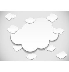 Frame with cut out clouds vector image vector image