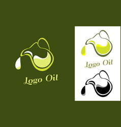 logo for the company engaged olives oil vector image vector image