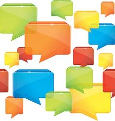 social media seamless background vector image