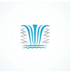 Waterfall icon vector image vector image